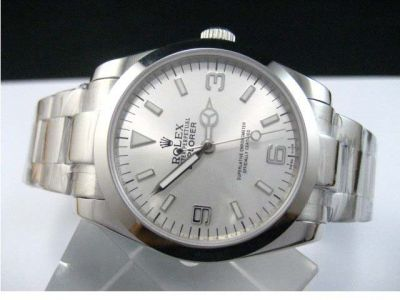 Rolex Explorer Oyster band Silver Face watch